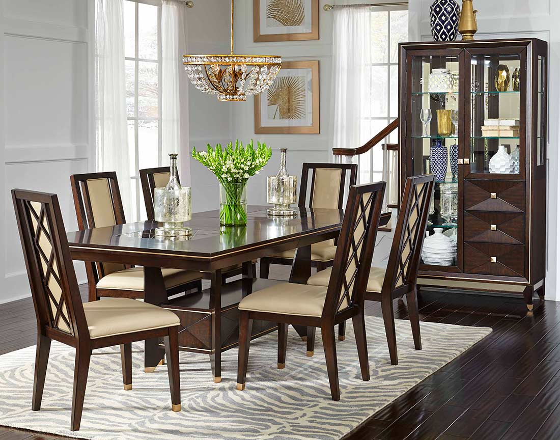 Extendible Chocolate Dining Table Nj Wesley | Classic Dining Intended For Recent Classic Dining Tables (View 2 of 15)