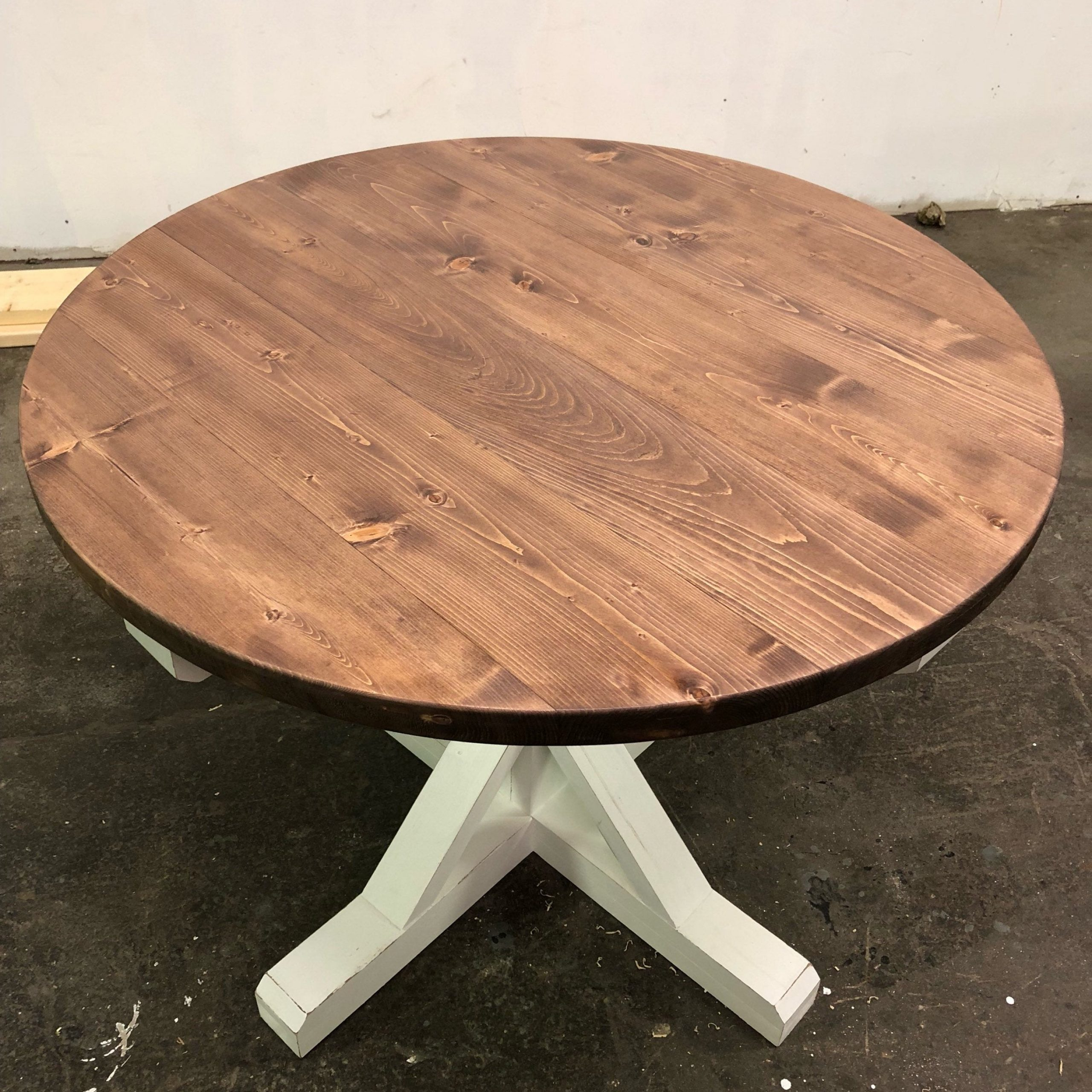 Farmhouse Style Round Trestle Dining Table (Limited Quantity) In 2018 Leonila 48'' Trestle Dining Tables (View 13 of 15)