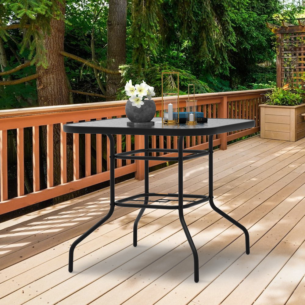 """Finefind 32"""" X 32"""" Outdoor Dining Table Tempered Glass Within Newest Mcmichael 32'' Dining Tables (View 5 of 15)"""