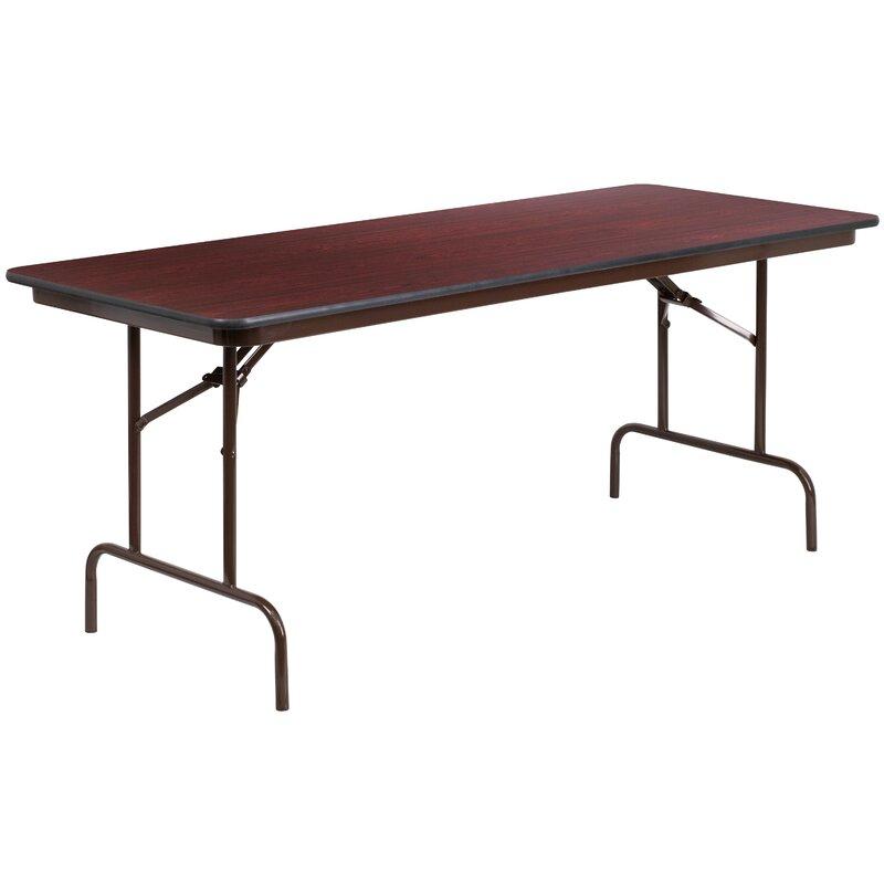 "Flash Furniture Melamine Laminate Rectangular Folding Within Recent Elite Rectangle 48"" L X 24"" W Tables (View 4 of 15)"