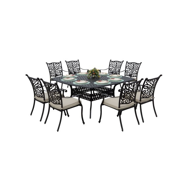 Fleur De Lis Living Belton 9 Piece Dining Set With Within Recent Belton Dining Tables (View 4 of 15)