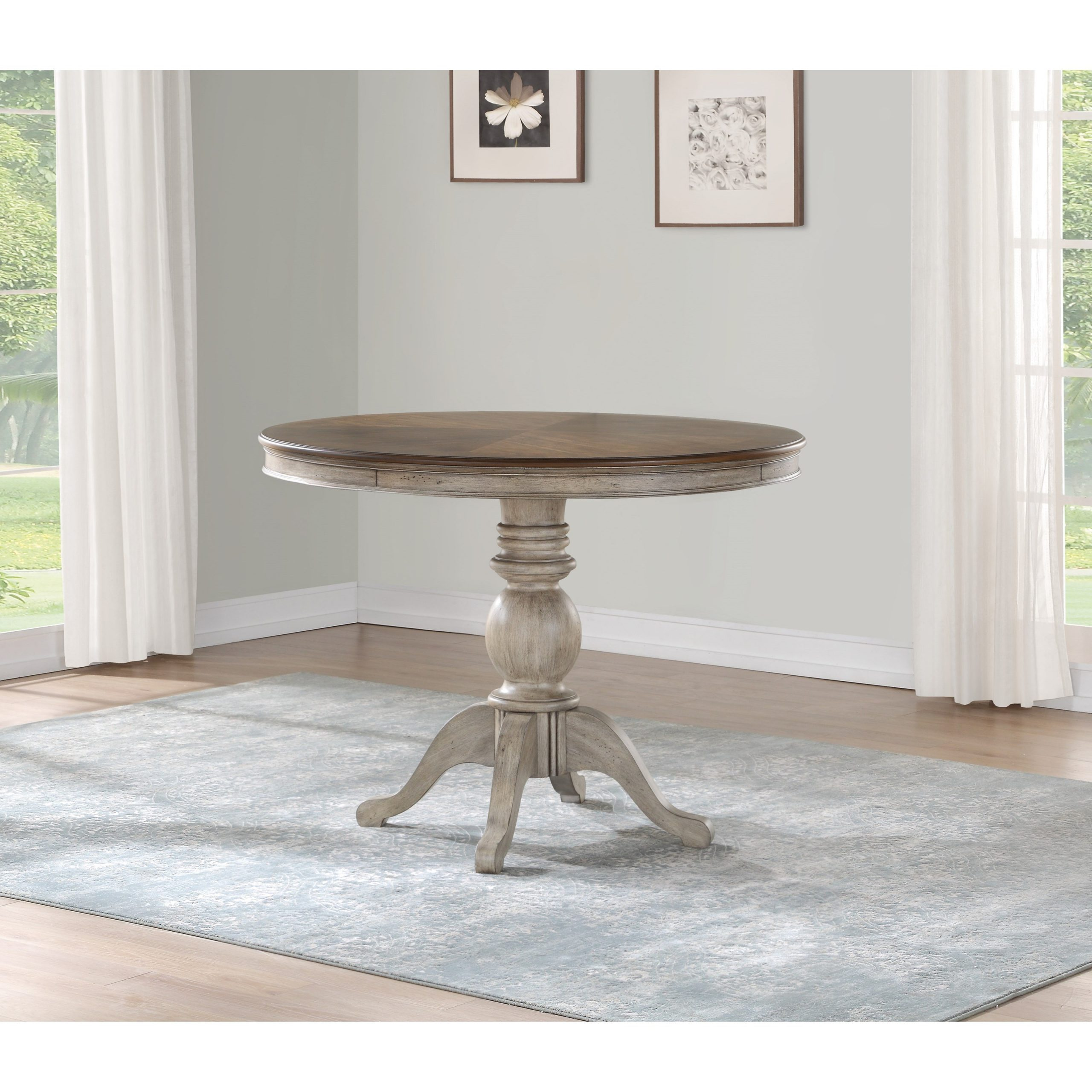 Flexsteel Ventura Relaxed Vintage Pedestal Counter Height Pertaining To Recent Bar Height Pedestal Dining Tables (View 4 of 15)