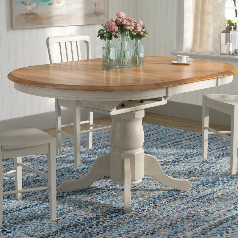 Florentia Extendable Solid Wood Dining Table & Reviews Within 2018 Katarina Extendable Rubberwood Solid Wood Dining Tables (View 15 of 15)