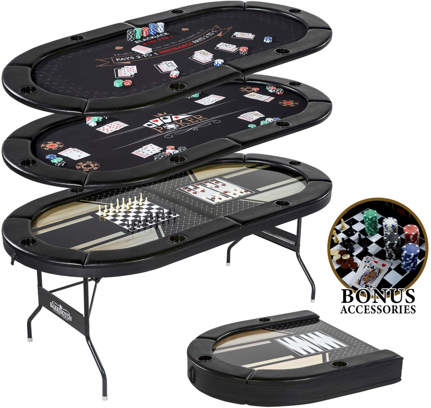 """Foldable 6 Player Poker Table Non Slip Casino Texas Holdem With Regard To Most Current 48"""" 6 – Player Poker Tables (View 7 of 15)"""
