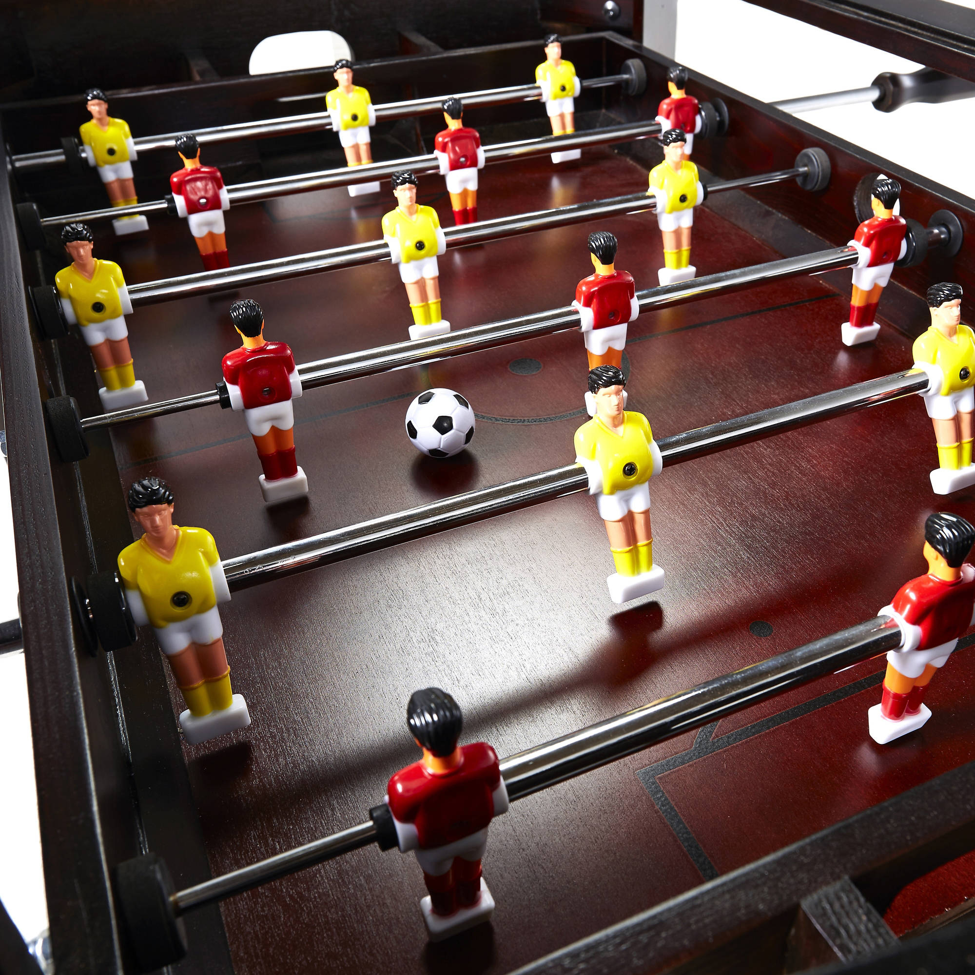 Foosball Coffee Table – 42 Inch Wooden Indoor Arcade Rec For Best And Newest 3 Games Convertible 80 Inches Multi Game Tables (Photo 2 of 15)