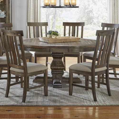 Found It At Wayfair – Lyonsdale Oval Pedestal Dining Table In Newest Barra Bar Height Pedestal Dining Tables (View 3 of 15)