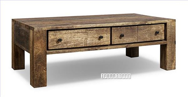 Freetown Solid Mango Wood Coffee Table Intended For Most Up To Date Carelton 36'' Mango Solid Wood Trestle Dining Tables (View 5 of 15)