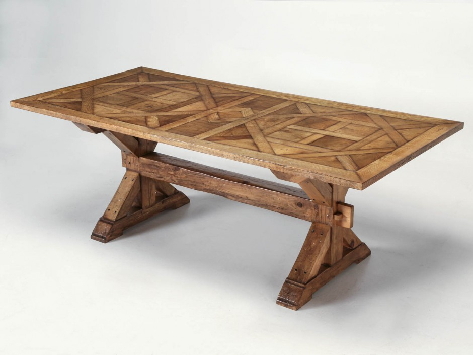 French Style Parquet Trestle Dining Table Now In Stock In Current Nerida Trestle Dining Tables (View 13 of 15)