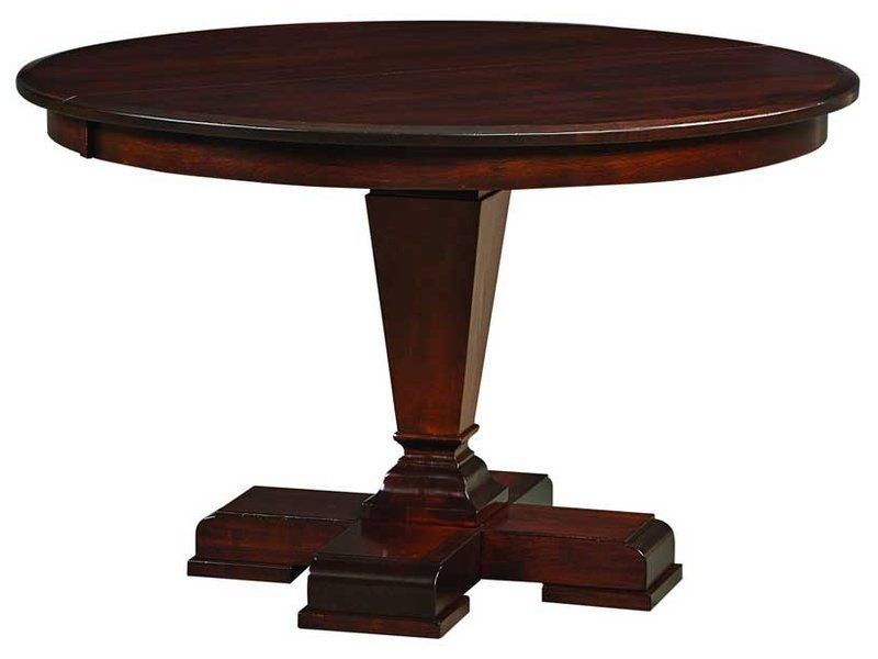 Fulton Pedestal Dining Table – Brandenberry Amish Furniture Intended For 2017 Kirt Pedestal Dining Tables (View 6 of 15)