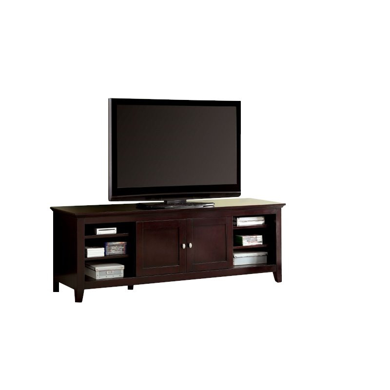 """Furniture Of America Blair Transitional Solid Wood 72"""" Tv Throughout Recent 72"""" L Breakroom Tables And Chair Set (View 14 of 15)"""