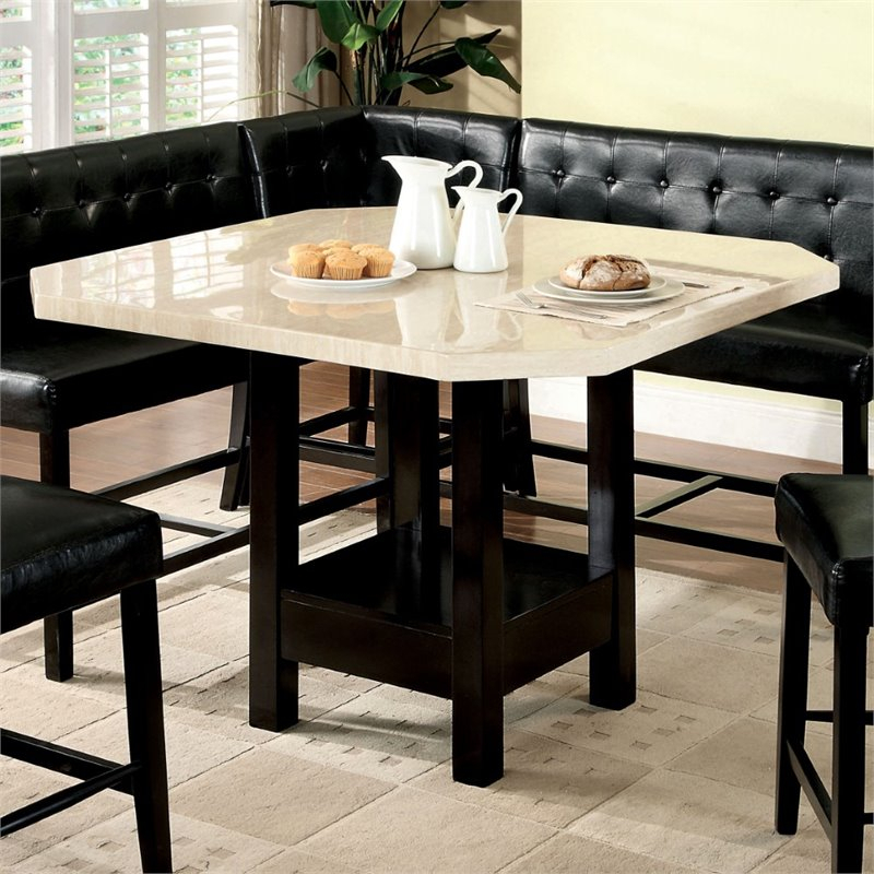 Furniture Of America Carribean Solid Wood Pub Height For Most Recently Released Overstreet Bar Height Dining Tables (View 8 of 15)