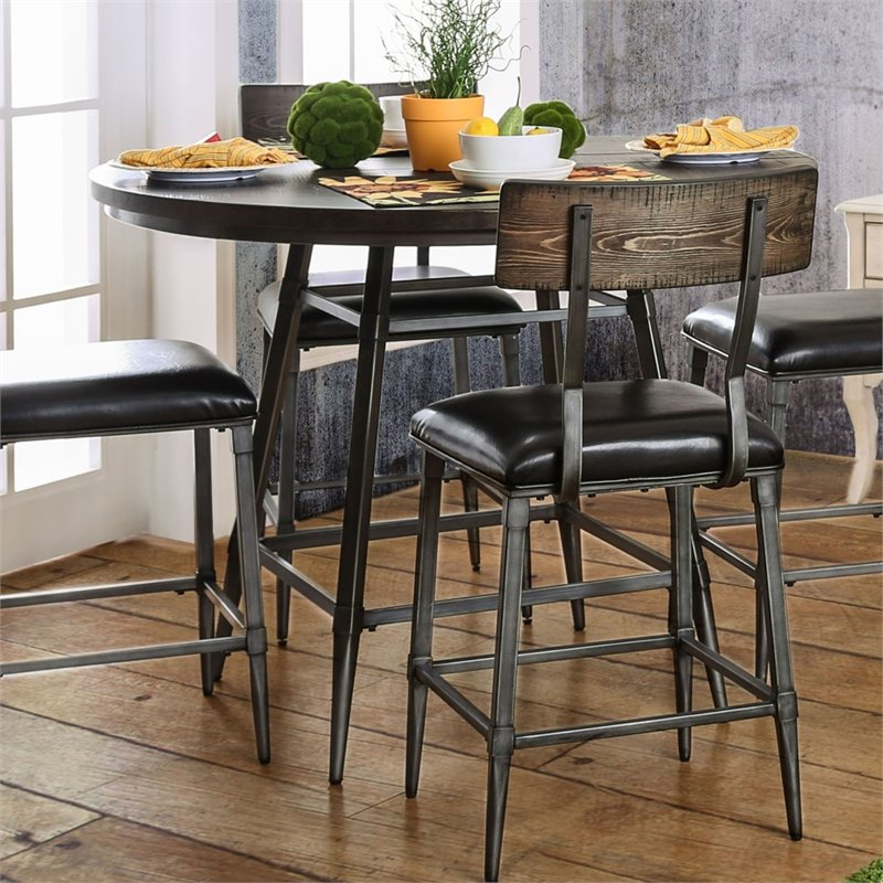 Furniture Of America Haliana Metal Counter Height Dining Inside Most Current Eduarte Counter Height Dining Tables (View 3 of 15)