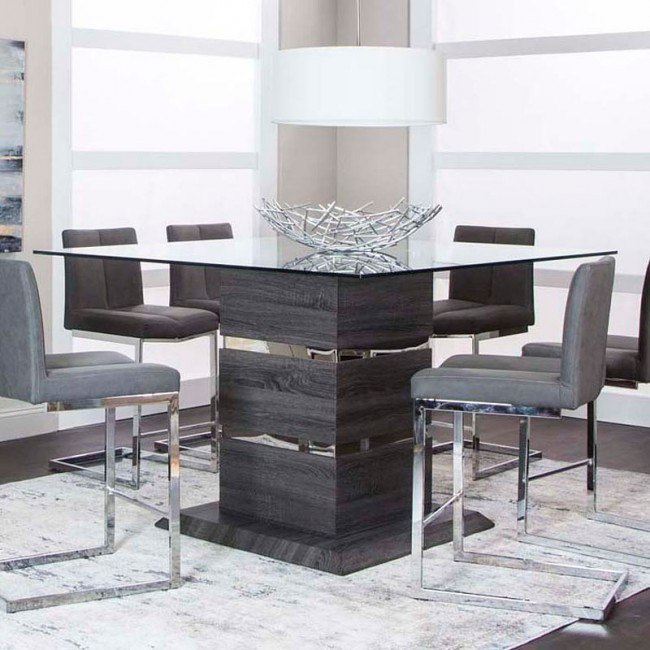 Gamma Counter Height Dining Table Cramco | Furniture Cart With Most Up To Date 49'' Dining Tables (View 3 of 15)