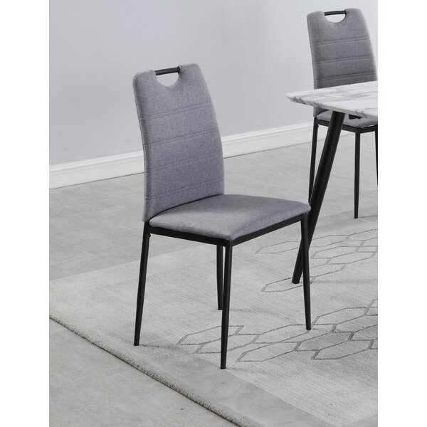 George Oliver Belton Upholstered Dining Chair In Gray With 2017 Belton Dining Tables (View 13 of 15)