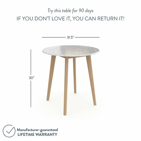 """George Oliver Drubin 31.5"""" Dining Table & Reviews 