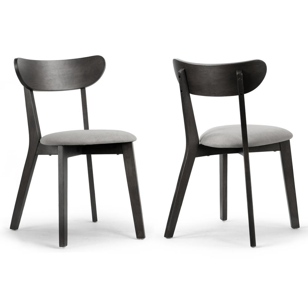 Glamour Home Aspen Black Rubberwood Dining Chair With Regarding Most Recent Yaritza (View 6 of 15)