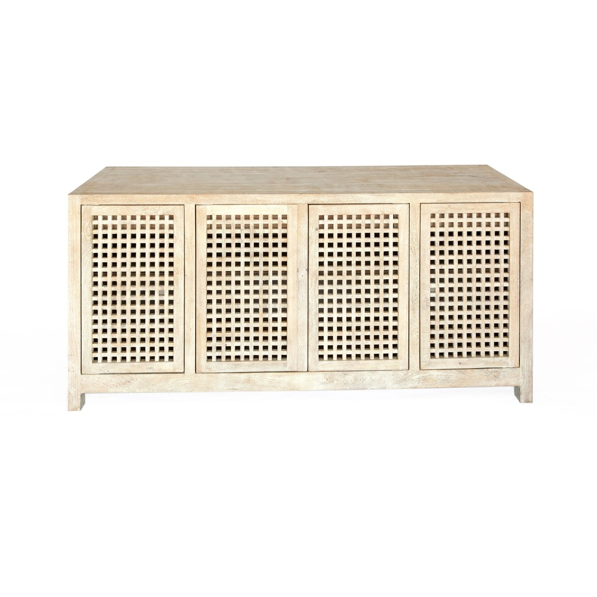 Global Views Driftwood Lattice Credenza Cabinet In Most Up To Date Drift  (View 5 of 15)