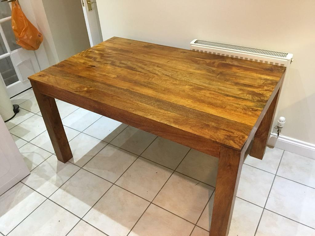 Gorgeous Mango Solid Wood Dining Table Stunning Condition Regarding Current Alfie Mango Solid Wood Dining Tables (View 8 of 15)