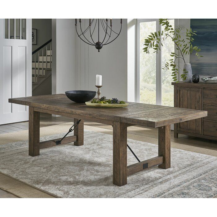 Gracie Oaks Bismack Extendable Pine Solid Wood Dining Regarding Recent Montauk (View 2 of 15)
