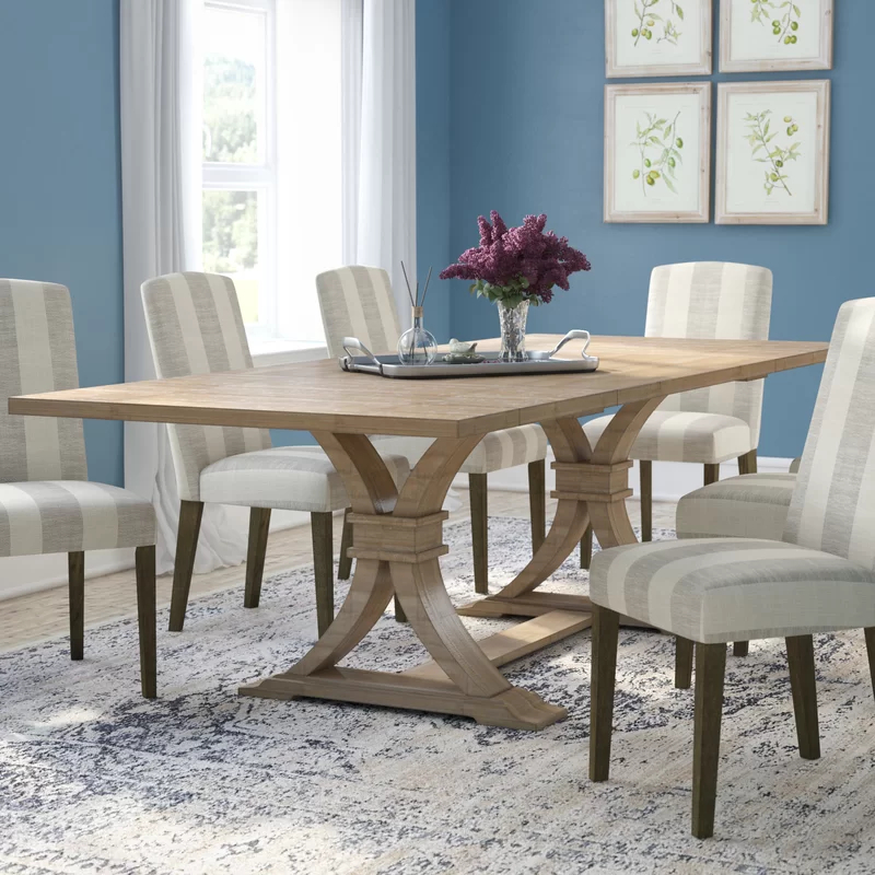 Gracie Oaks Dewitt Extendable Dining Table & Reviews Throughout Most Up To Date Katarina Extendable Rubberwood Solid Wood Dining Tables (View 3 of 15)