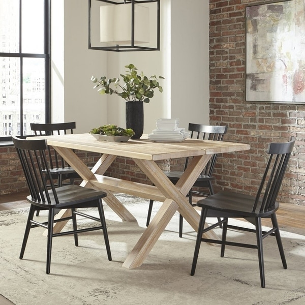Grain Wood Furniture Montauk Trestle Table Solid Wood In Most Popular Montauk (View 3 of 15)