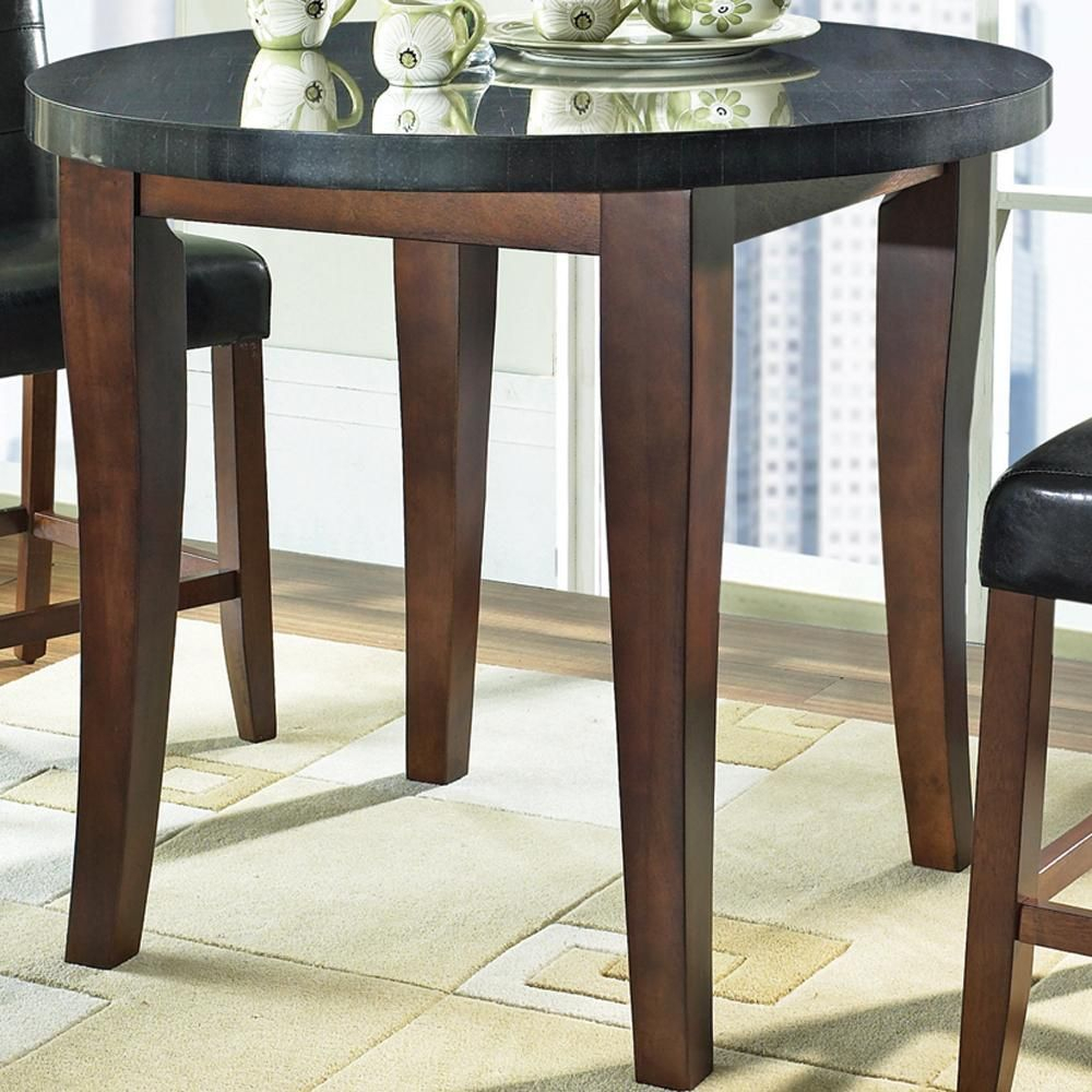 Granite Bello Granite Top Counter Height Leg Table Intended For Most Current Bar Height Pedestal Dining Tables (View 6 of 15)
