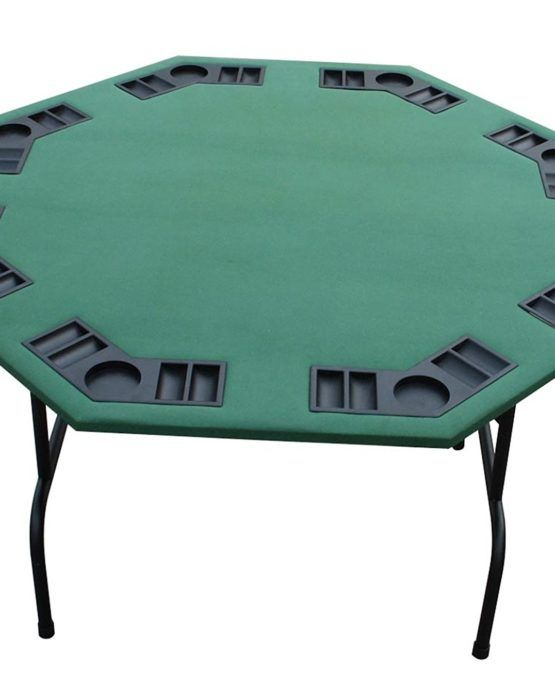 """Green Felt Octagon Poker Table Folding Legs 52″ From Point In Current 48"""" 6 – Player Poker Tables (View 6 of 15)"""