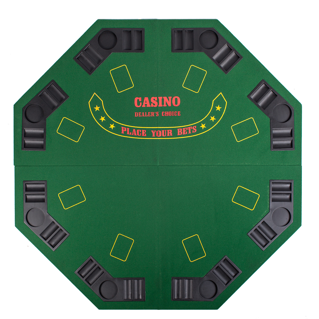 """Green Octagon 48"""" 8 Player Four Fold Folding Poker Table With Most Recent 48"""" 6 – Player Poker Tables (View 5 of 15)"""