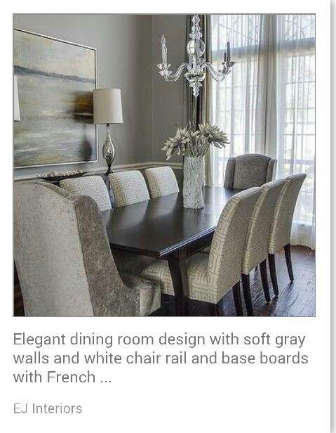 Grey Dining Room | Grey Dining Room, Elegant Dining Room Pertaining To Most Popular Larkin (View 6 of 15)
