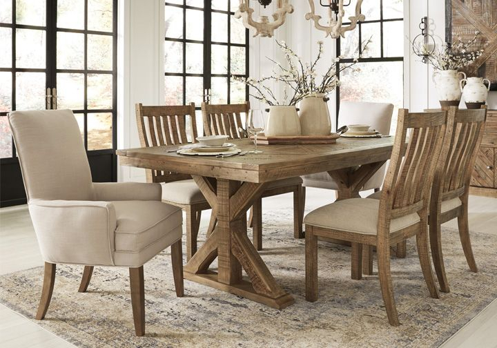 Grindleburg Light Brown 5Pc Rectangular Dining Set Throughout Newest Balfour 39'' Dining Tables (View 15 of 15)
