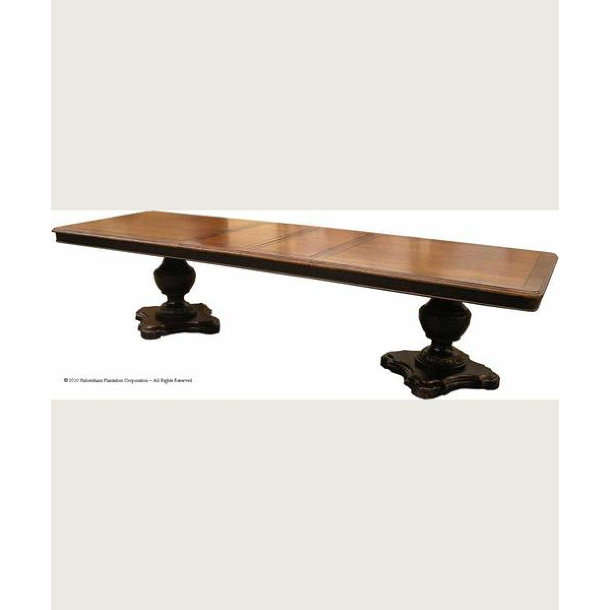 Habersham Le Clos Double Pedestal Dining Table (With Intended For 2018 Canalou 46'' Pedestal Dining Tables (View 9 of 15)