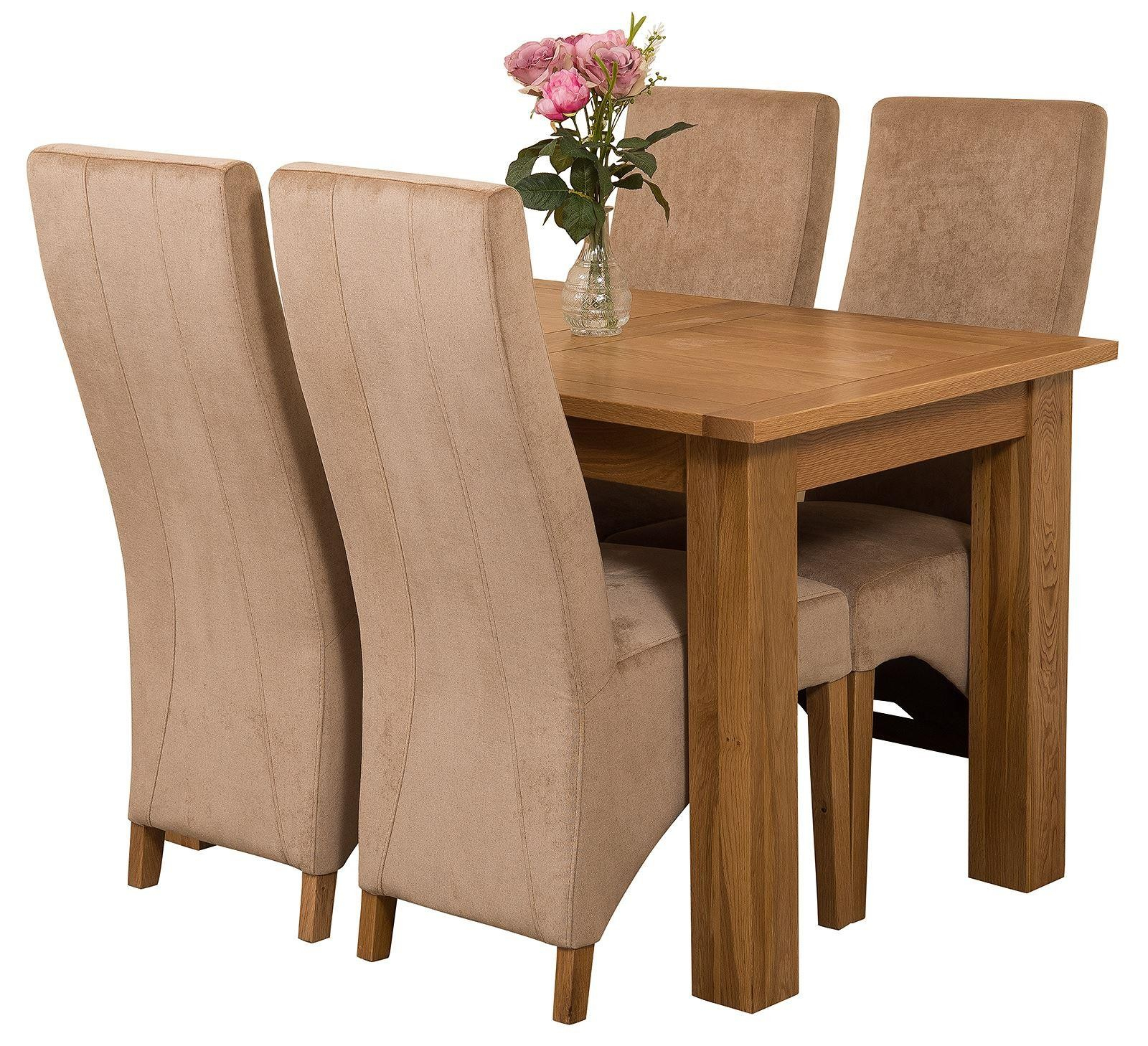Hampton Extending Oak Dining Table With 4 Black Lola Inside 2018 Getz 37'' Dining Tables (View 10 of 15)
