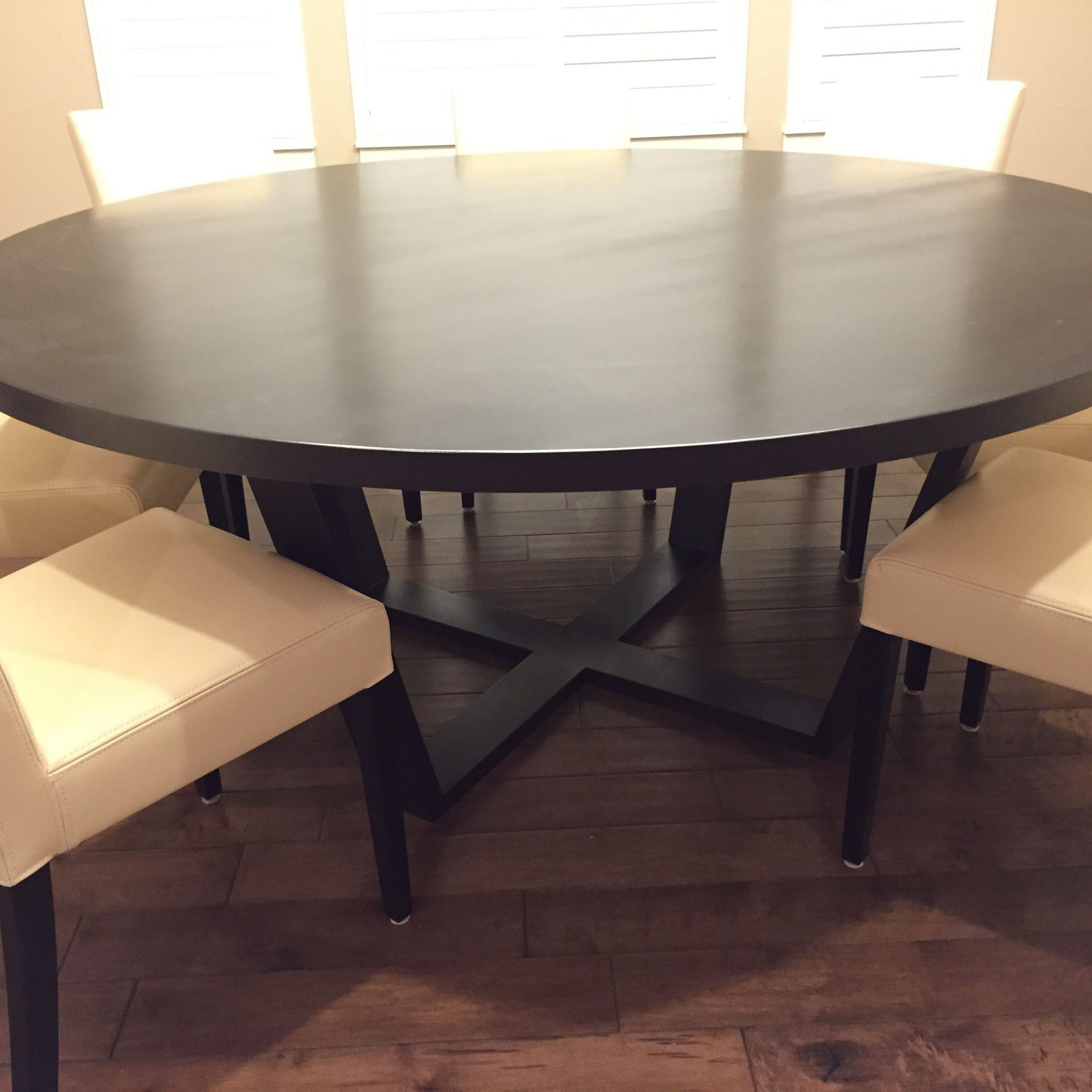 """Handmade Solid Maple 72"""" Round Dining Tablefurniture Intended For Most Up To Date Tylor Maple Solid Wood Dining Tables (View 9 of 15)"""