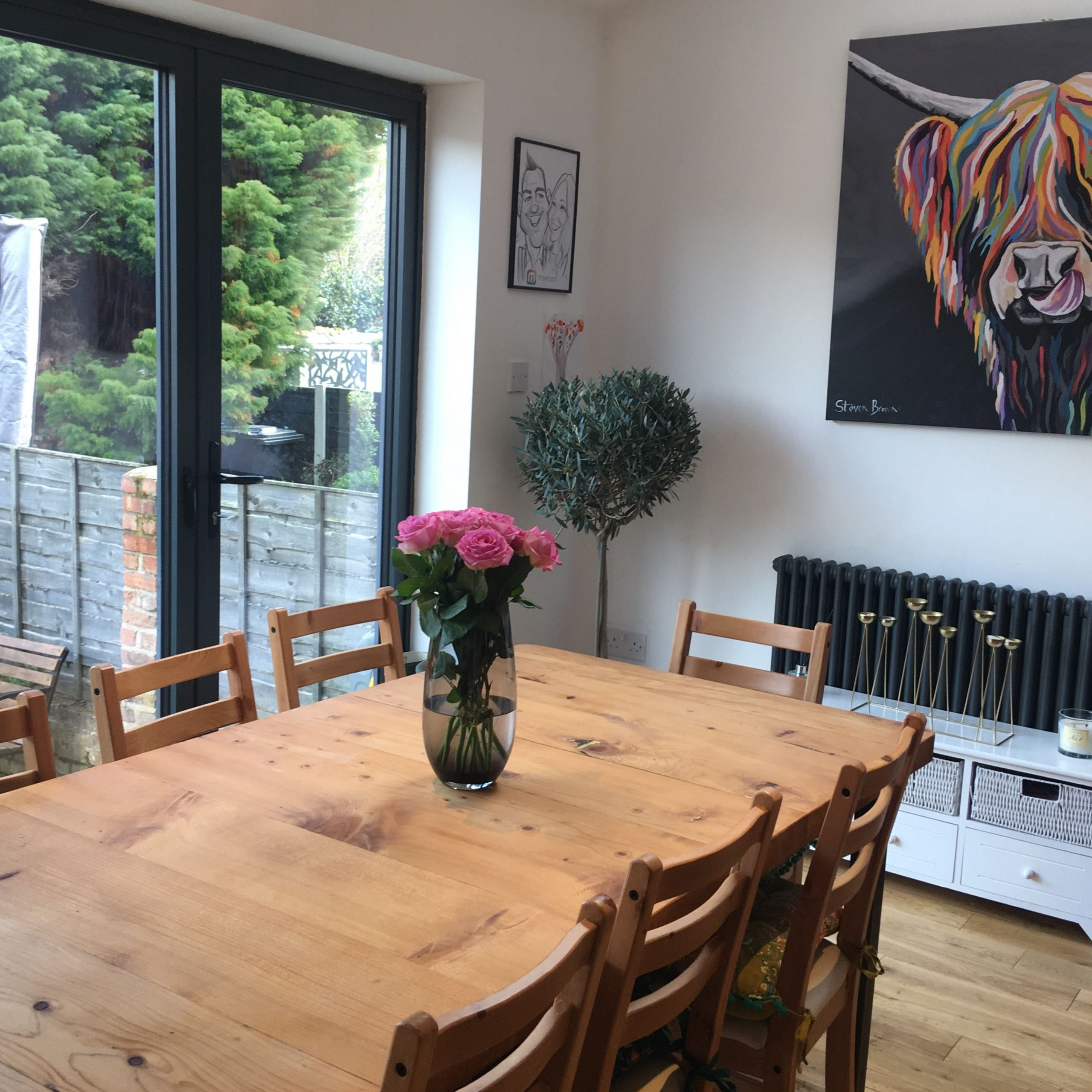 Heather Mccoo Canvas, Handmade Wooden Dining Table, Olive Throughout Most Up To Date Steven 39'' Dining Tables (View 14 of 15)