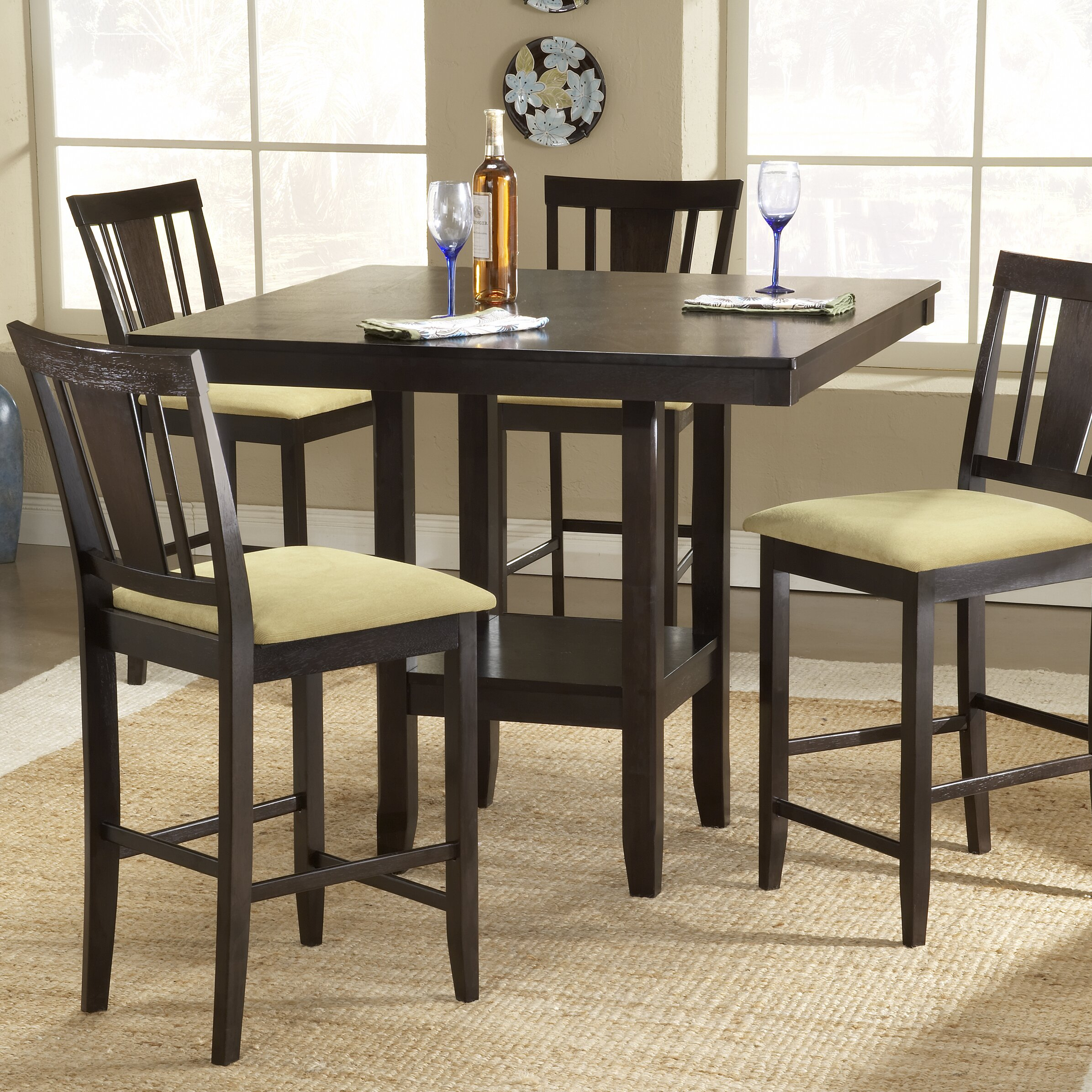 Hillsdale Arcadia Counter Height Dining Table & Reviews With Most Up To Date Dankrad Bar Height Dining Tables (View 13 of 15)