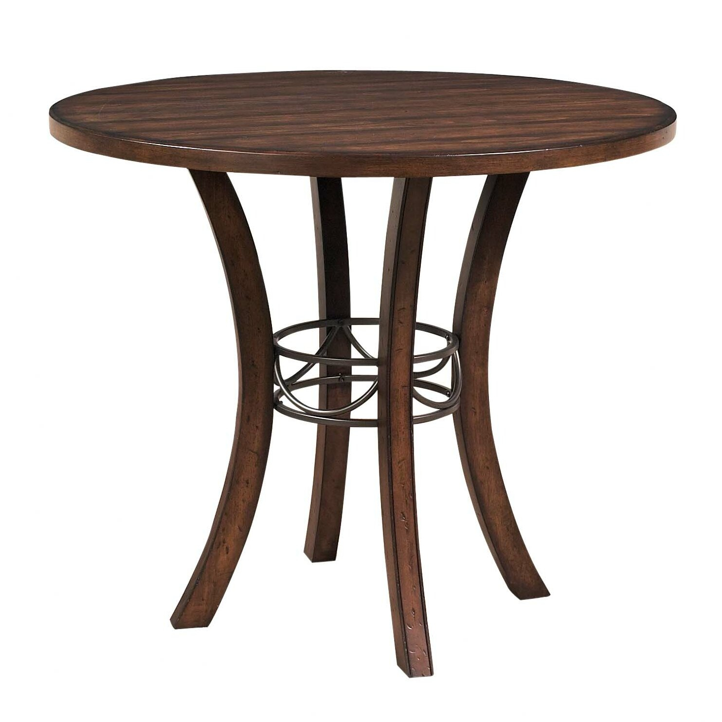 Hillsdale Cameron Round Counter Height Dining Table Intended For Latest Bushrah Counter Height Pedestal Dining Tables (View 5 of 15)