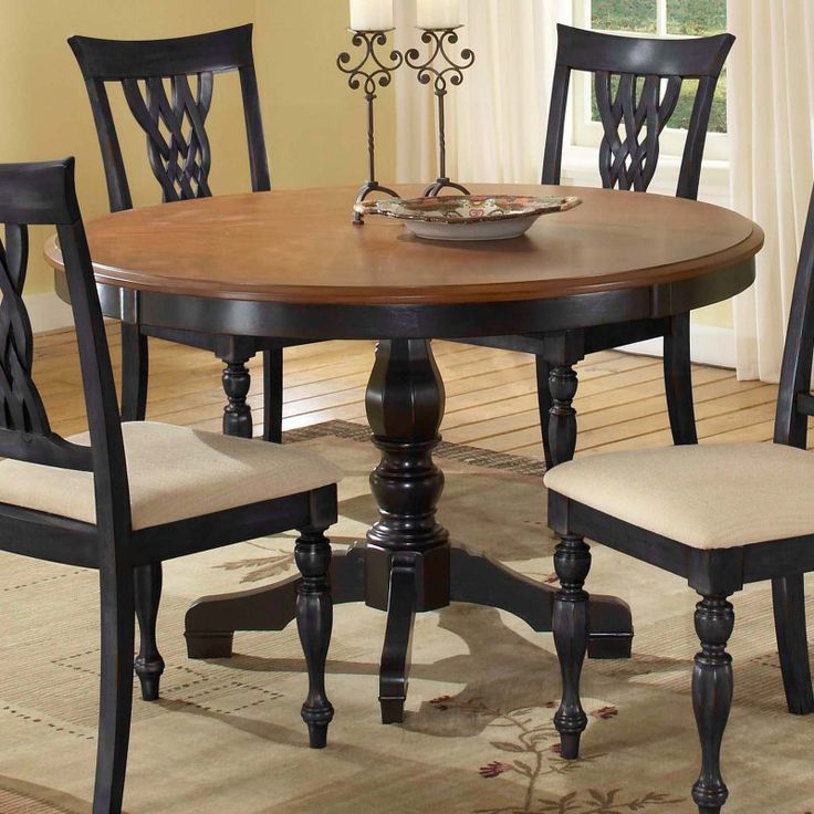 Hillsdale Embassy Round Pedestal Table With 48 Inch With Regard To Newest Kirt Pedestal Dining Tables (View 4 of 15)