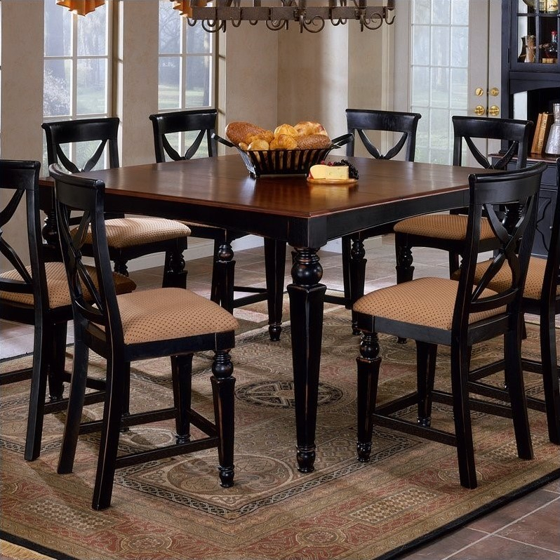 Hillsdale Northern Heights Counter Height Dining Table In In Most Recent Desloge Counter Height Trestle Dining Tables (View 5 of 15)