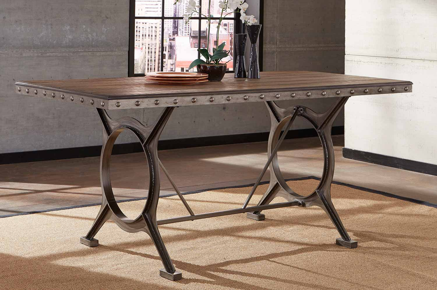 Hillsdale Paddock Counter Height Dining Table – Brushed With Regard To Newest Charterville Counter Height Pedestal Dining Tables (View 2 of 15)