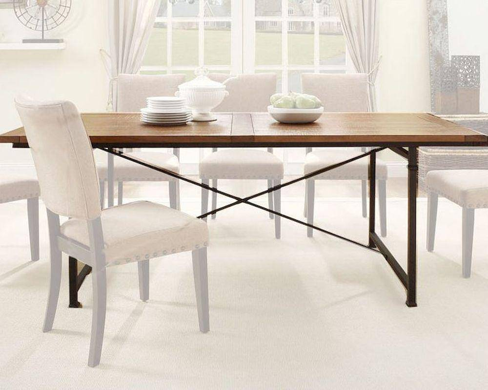 Homelegance 2555 84 Derry Industrial Rustic Wood Dining Throughout Most Current Neves 43'' Dining Tables (View 4 of 15)
