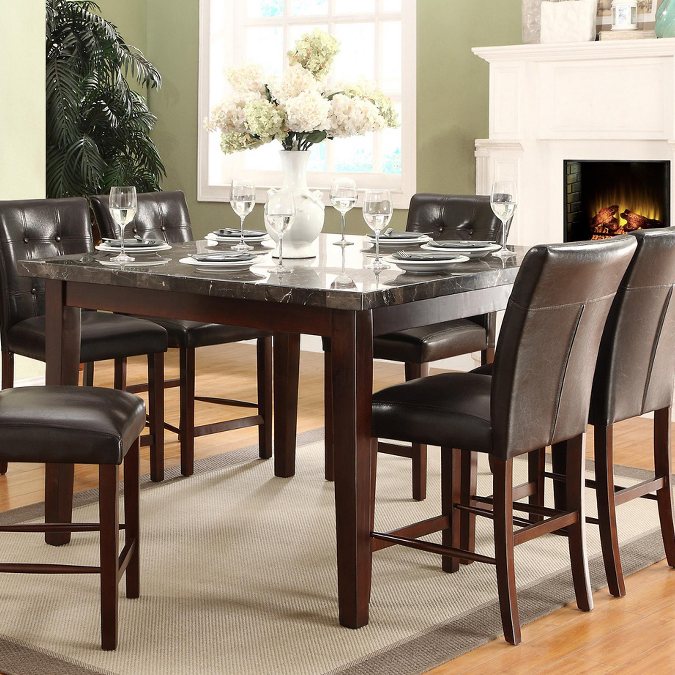 Homelegance Decatur Counter Height Dining Table With In Most Current Eduarte Counter Height Dining Tables (View 10 of 15)