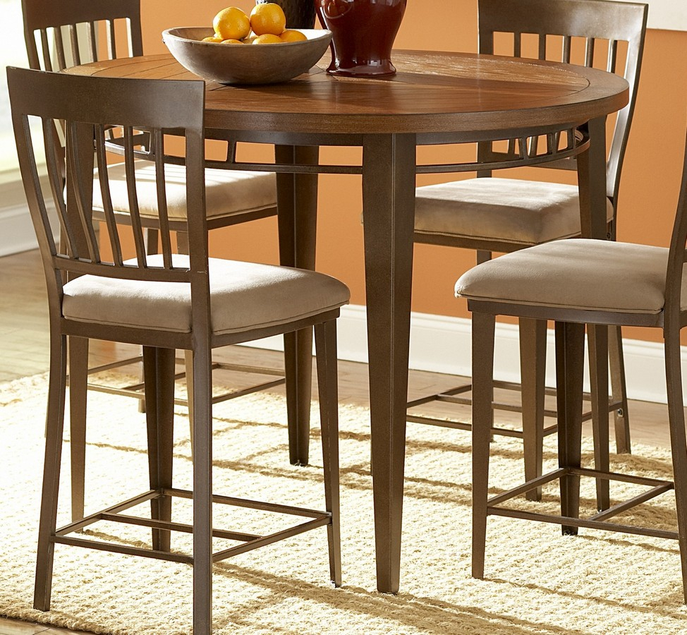 Homelegance Lemont 45In Wood And Metal Round Counter With Regard To Latest Hitchin 36'' Dining Tables (View 4 of 15)
