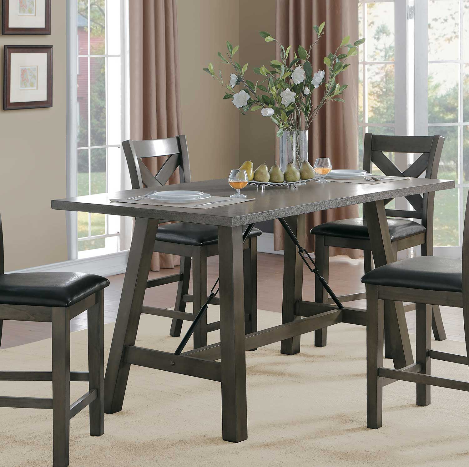 Homelegance Seaford Rectangular Counter Height Dining In Most Recent Hearne Counter Height Dining Tables (View 15 of 15)