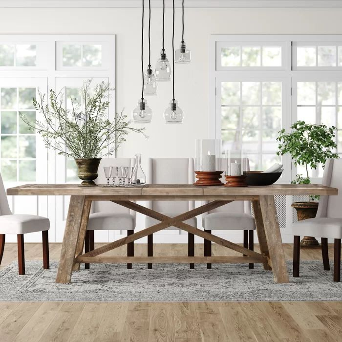 Huntingdon Acacia Solid Wood Dining Table & Reviews With Most Recent Montauk (View 10 of 15)