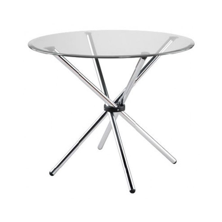 Hydra Base Tableeurostyle – Addison House   Chrome With Regard To Most Recently Released Canalou 46'' Pedestal Dining Tables (View 15 of 15)