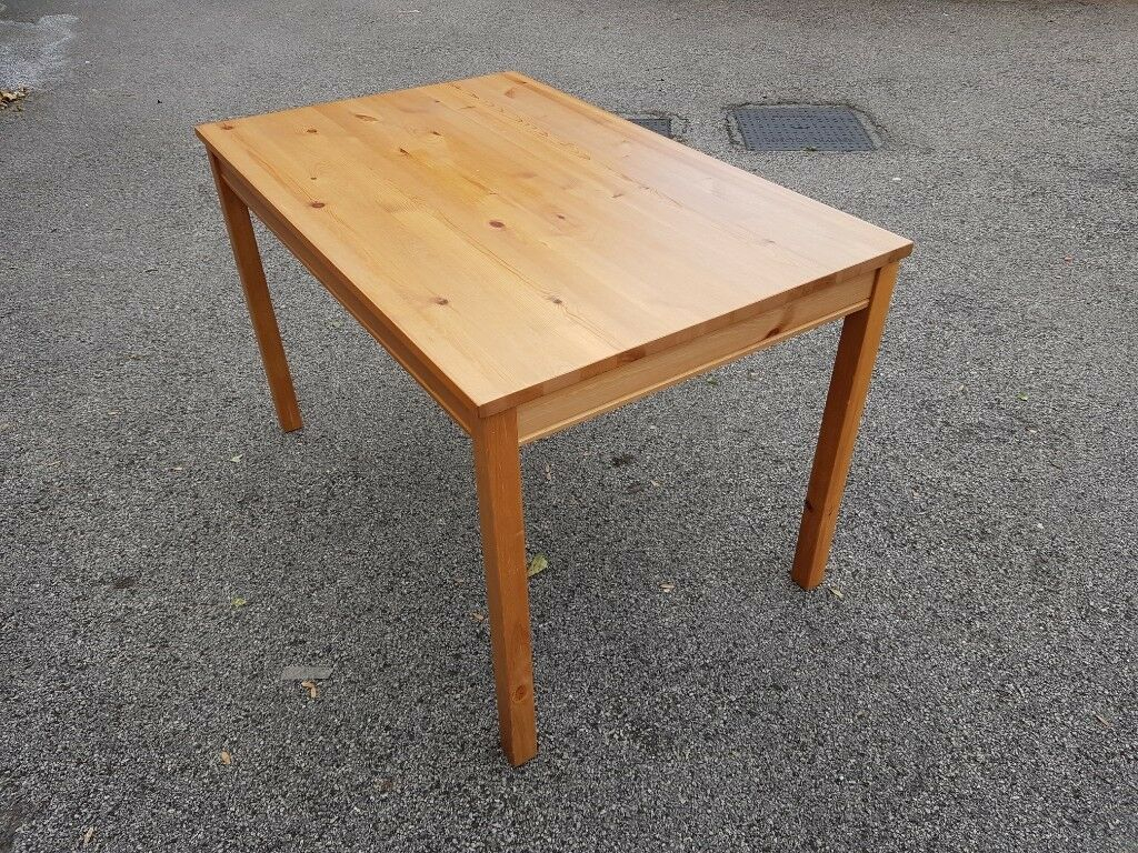 Ikea Solid Pine Dining Table 118Cm & 2 Chairs Free Regarding Newest Reagan Pine Solid Wood Dining Tables (View 9 of 15)