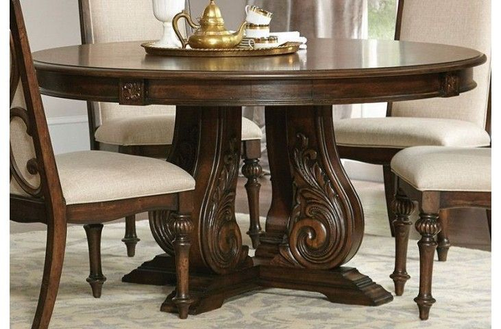 Ilana Antique Jave Round Dining Table From Coaster Inside 2018 Nashville 40'' Pedestal Dining Tables (View 13 of 15)