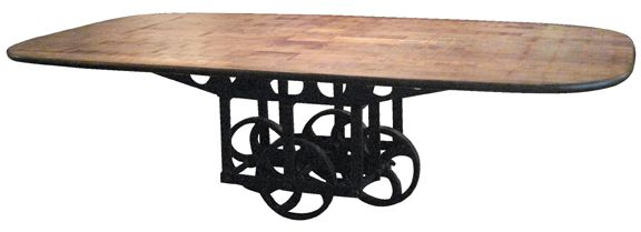 Installations Antiques Dining Table // 1920'S Cast Iron Inside 2018 Deonte 38'' Iron Dining Tables (View 10 of 15)