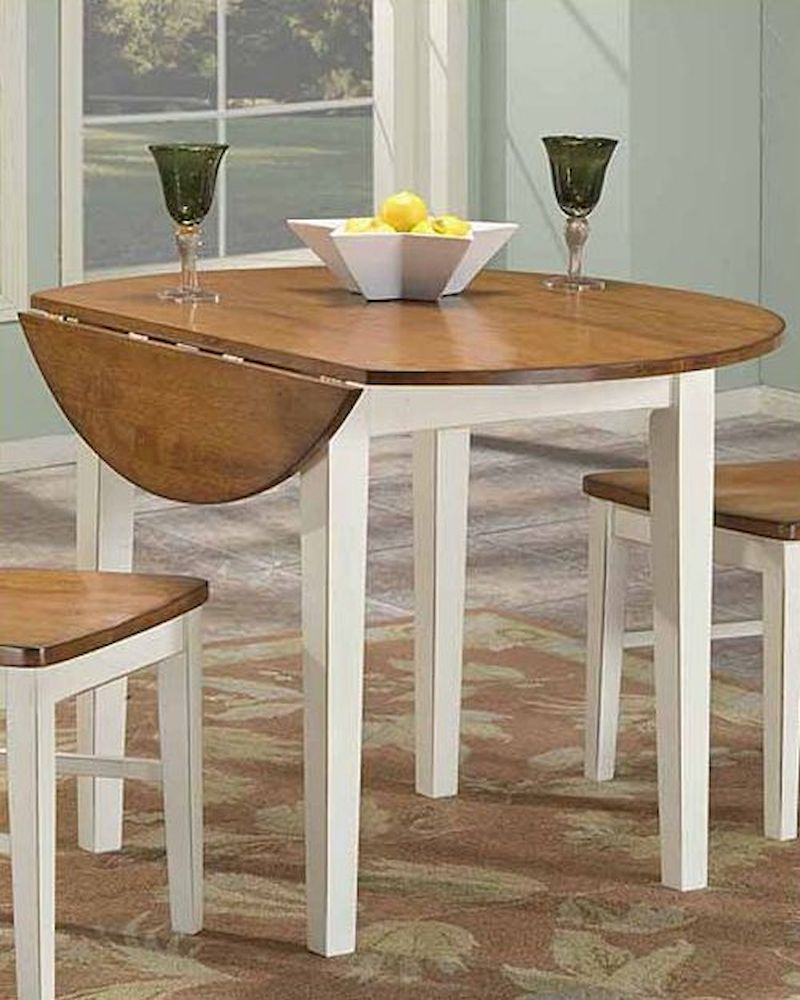 Intercon Drop Leaf Round Dining Table Arlington Inar4242Dtab In Newest Adams Drop Leaf Trestle Dining Tables (View 8 of 15)