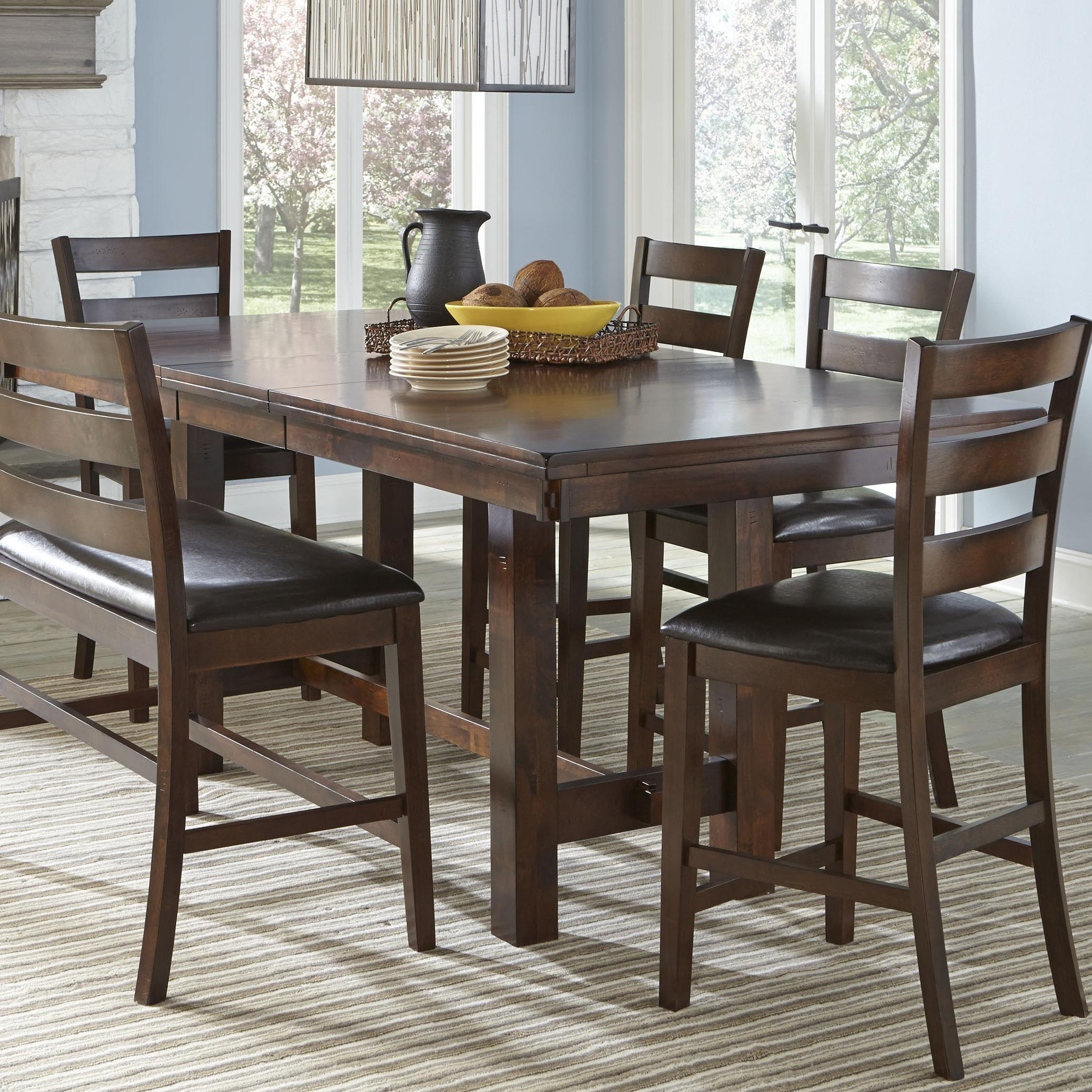 Intercon Kona Counter Height Table With Leaf | Rife'S Home Intended For 2017 Eduarte Counter Height Dining Tables (View 7 of 15)